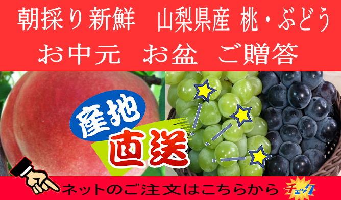山梨県産 桃・ぶどう通販